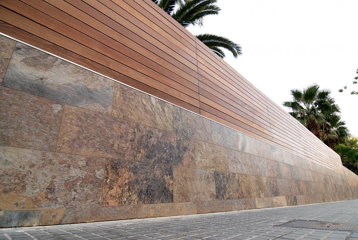Decoracional piedra revestimientos naturales e imitaciones - Imitacion madera para fachadas ...