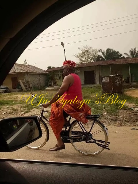 House Of Reps Member, Ederin Loveth Ididi Pictured Due To Fuel Scarcity (Photo)