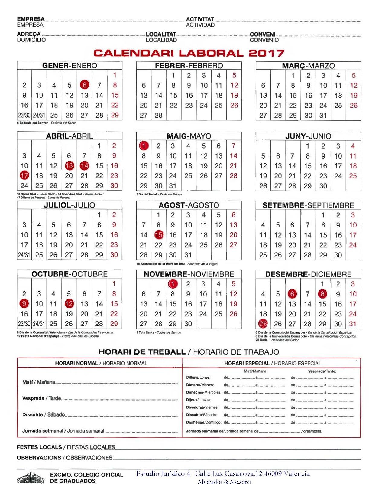 Calendario Laboral 2020 Comunidad Valenciana Pdf.Calendario Del Valencia