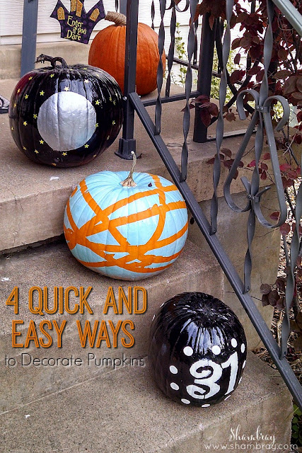 Check out these ideas for decorating pumpkins without carving them.