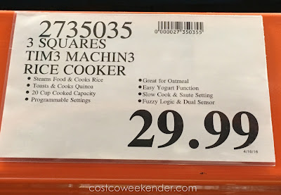 Deal for the 3 Squares Tim3 Machin3 Rice Cooker at Costco