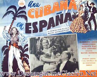 Cartel de la película, Una cubana en España