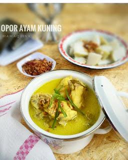Resep Opor Ayam Kuning By @mamaquink