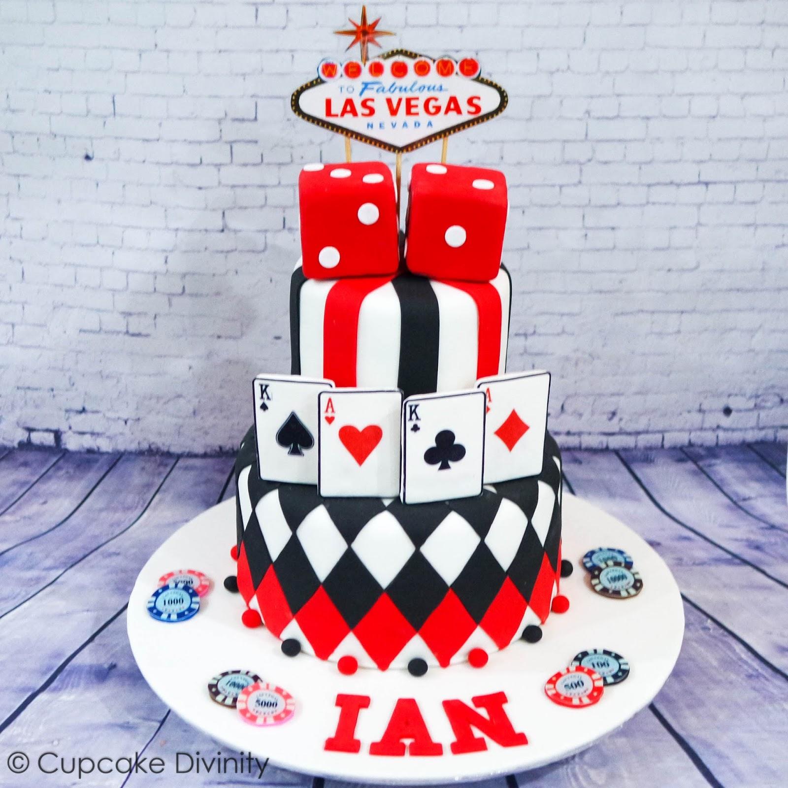 Cupcake Divinity Las Vegas Casino Themed Cake