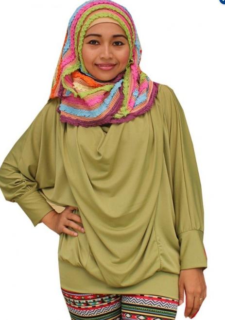 Contoh Baju Atasan Muslim Gamis  Ibu Hamiil