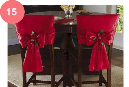 Resultado de imagem para Sugestão de decoração natalina de cadeiras