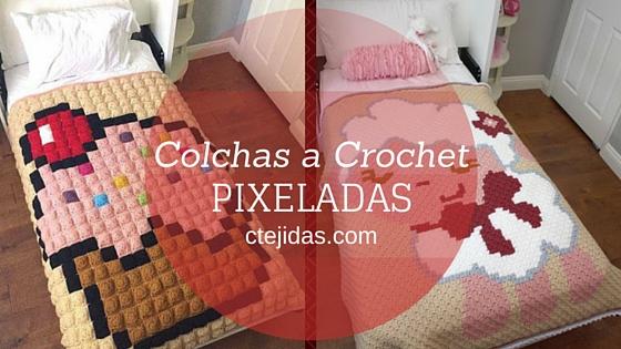Galería + Libro para Descargar: Pixelados a Crochet - Colchas y Tapetes