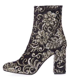 Topshop Embroidered Sequin Boots