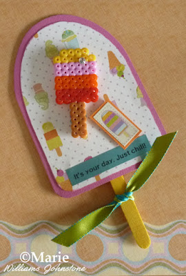 Free template to make an easy popsicle shaped handmade card