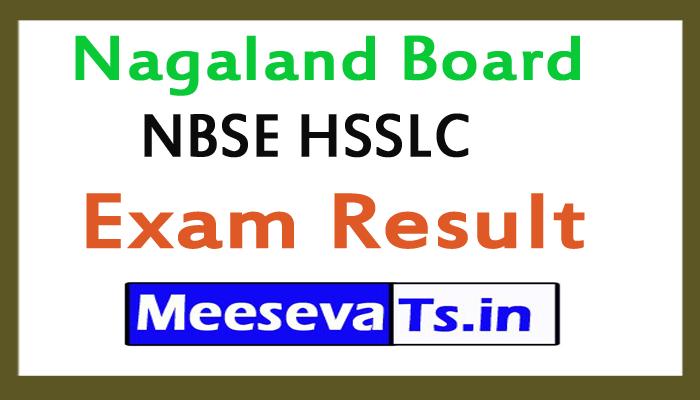Nagaland Board 12th Class NBSE HSSLC  Exam results 2018
