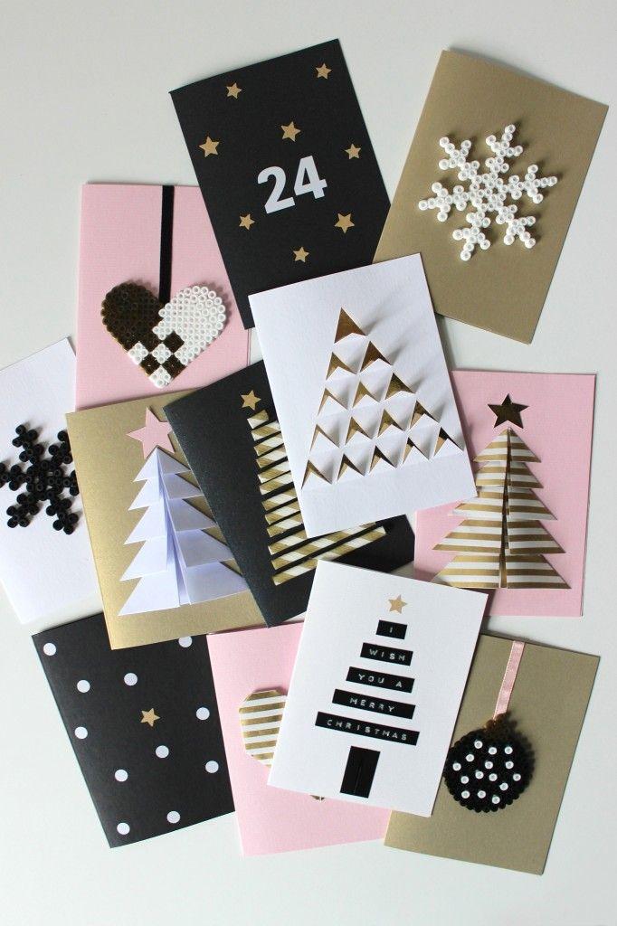 proste kartki świąteczne diy