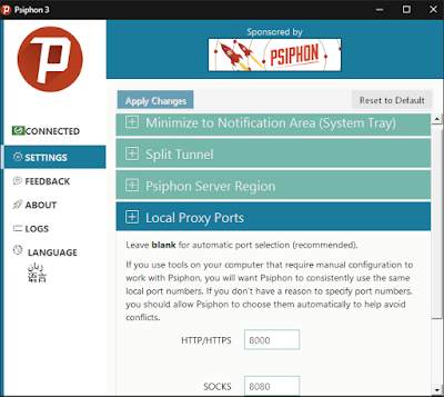 Menggabungkan Koneksi Psiphon Dan SSH
