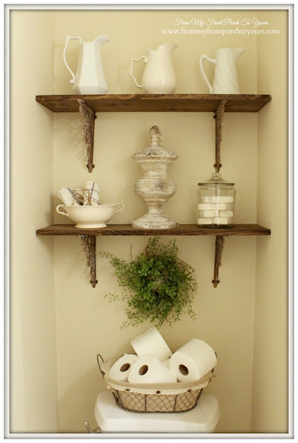 Farmhouse-Half Bathroom-Storage Ideas-From My Front Porch To Yours