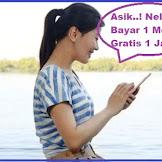 TARIF PROMO XL BAYAR 1 MENIT DAPAT GRATIS 1 JAM MAU..?