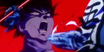 Freeza se imagina como matar a Goku, como ya lo hacia en el infierno.