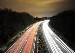 Фото ночного шоссе