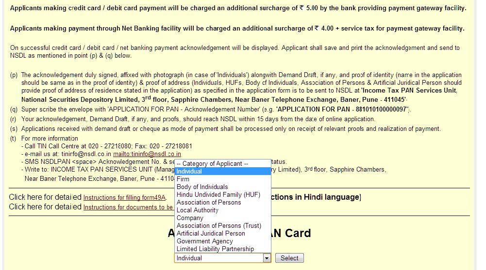 it-4 Sample Application Form Filled Online Pan Card on