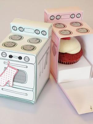 Diseño para cajita de cupcake
