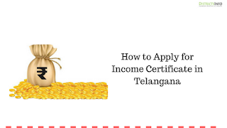 How to Apply for Income Certificate in Telangana