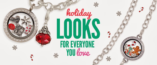 Origami Owl Living Locket Holiday Looks from StoriedCharms.origamiowl.com
