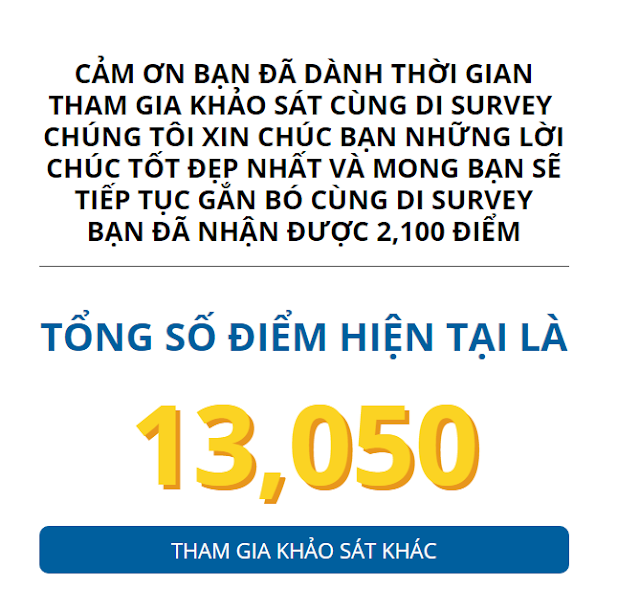 di survey khảo sát kiếm tiền, di survey khao sat kiem tien online, khao sat kiem tien