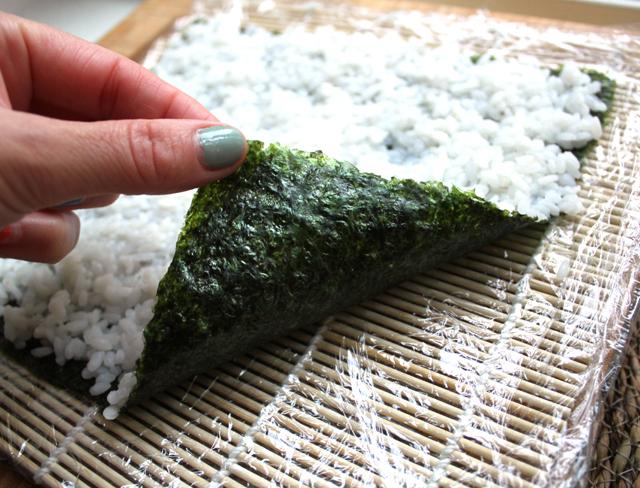 Oppskrift Vegansk Sushi Aubergine Plomme Selleristang Saitaku Maki Uramaki Fiskefri
