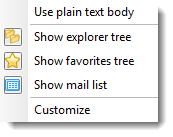 Display .eml files in plain text body.