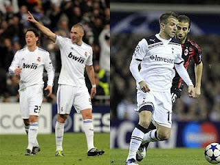 Real Madrid and Tottenham are the top scorers of the Champions League 2010-2011