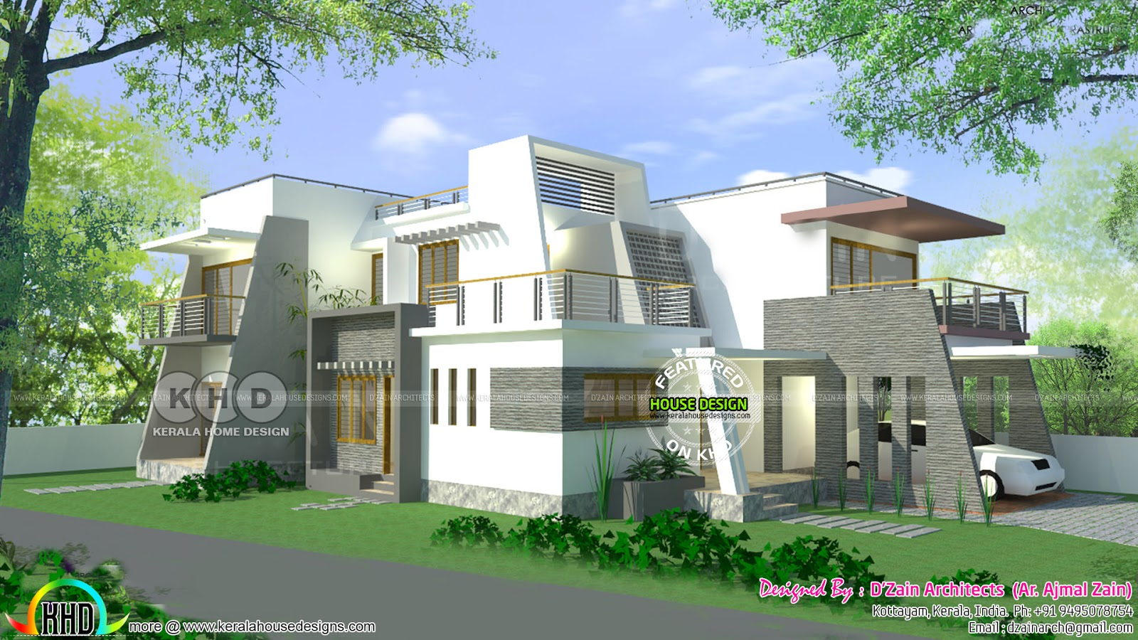 Finished House And 3d Rendering Kerala Home Design And