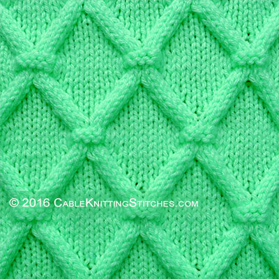 Cable Knitting Stitches » Trellis