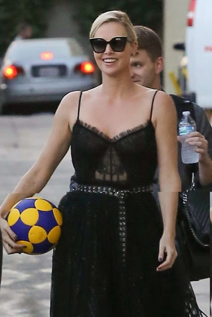 Charlize Theron at 'Jimmy Kimmel Live!' in Hollywood