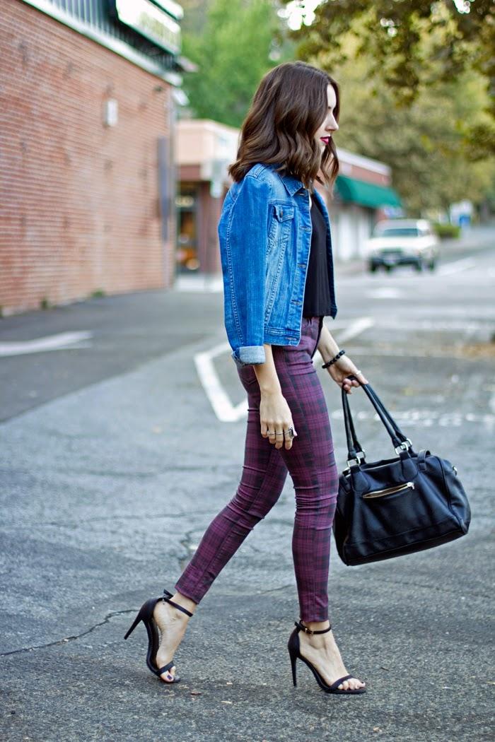 Plaid Jeans