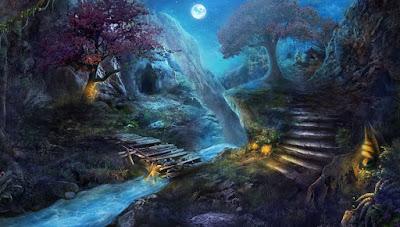 Gambar Pemandangan Alam Gaib Panorama Hutan Mistik Dunia Jin