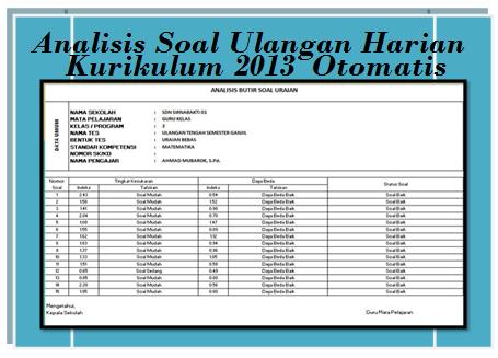 Analisis Soal Kurikulum 2013