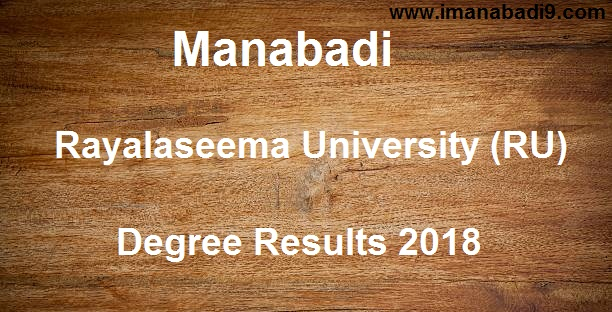 Manabadi RU Degree Results 2018, Schools9 RU Results 2018, Manabadi Degree Results 2018