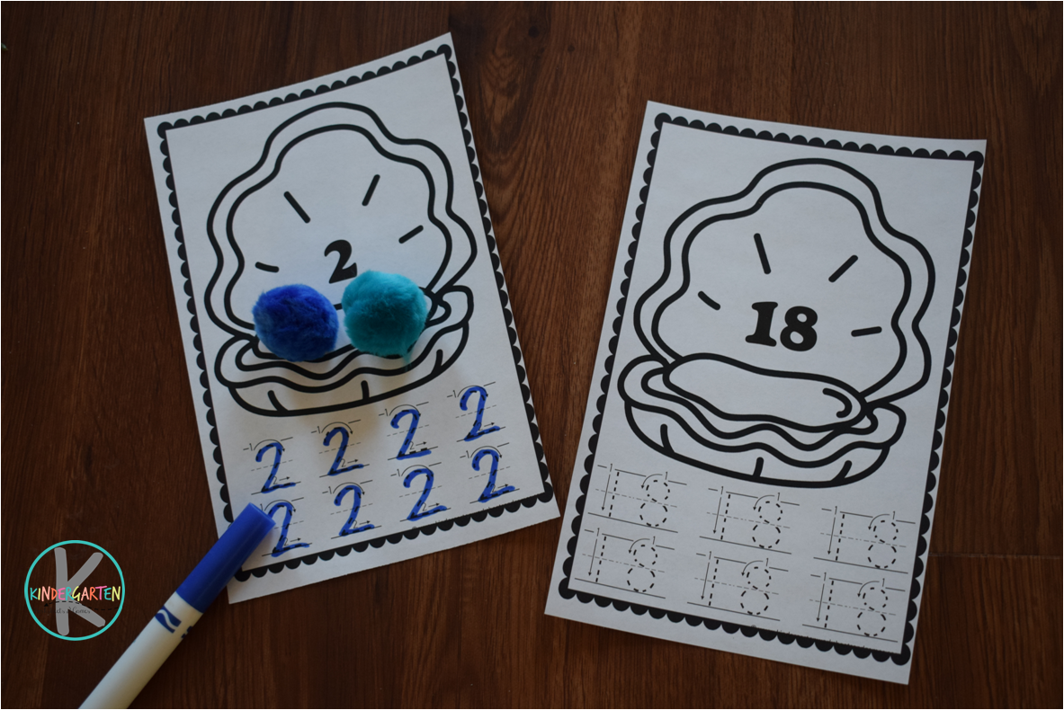 Kindergarten Worksheets And Games Free Pearl Count To 20