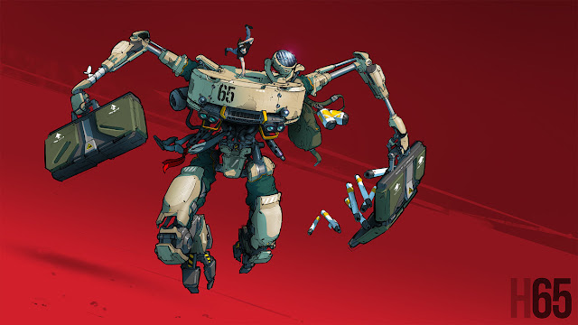 Sci Fi Mecha Illustration.