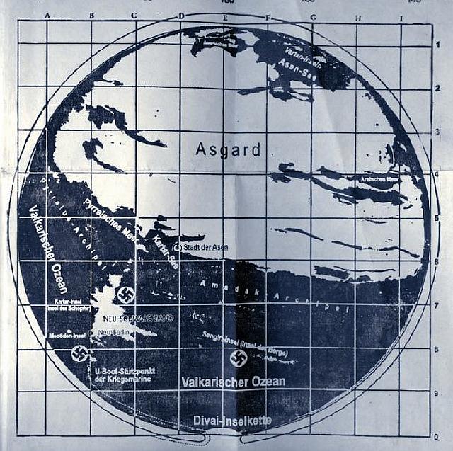 Este mapa recuperado por la KGB podría pertenecer al interior de la Tierra Hueca