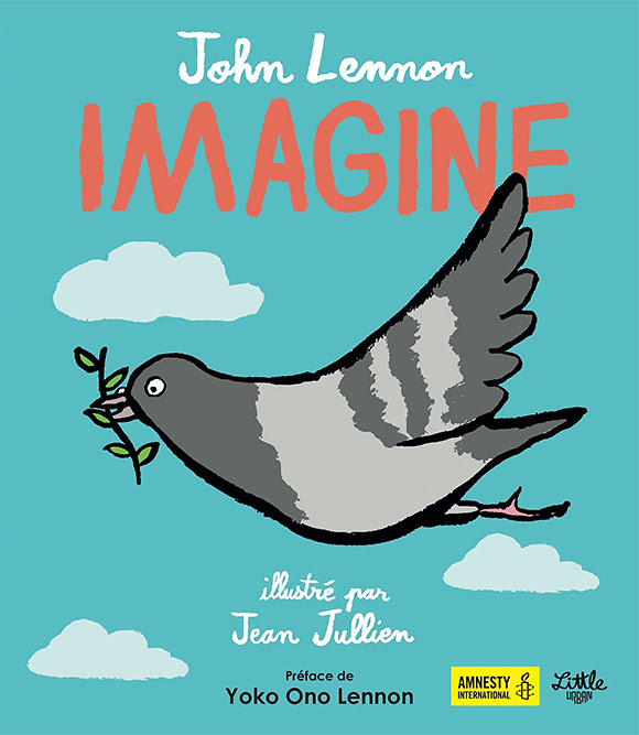 La chanson «Imagine» de John Lennon illustrée par Jean Jullien