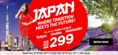 AirAsia X KL Japan Tokyo Osaka Hokkaido All-in Fare Flight Ticket Sale Discount Promo