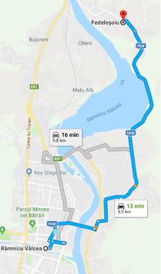 Traseu drumetie Ramnicu Valcea