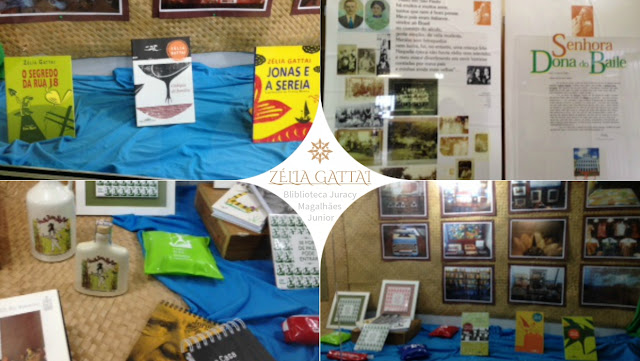 Vitrine cultural da Biblioteca Juracy Magalhães Jr. presta homenagem ao centenário de Zélia Gattai