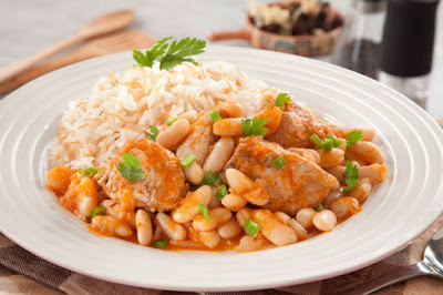 يخني الفاصولياء بالدجاج - مطبخ منال العالم