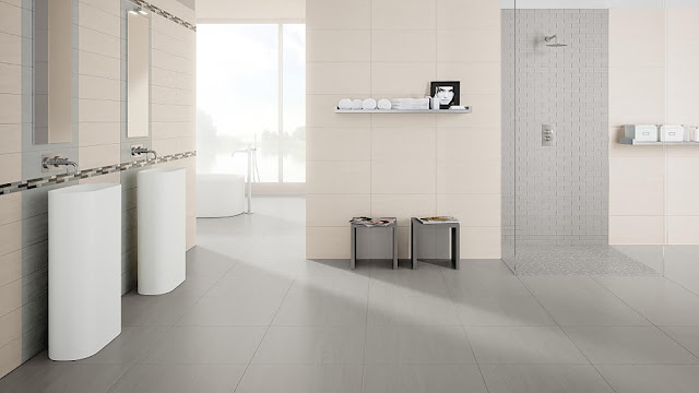 Tiles for floor design Explorer collection - Fine porcelain stoneware
