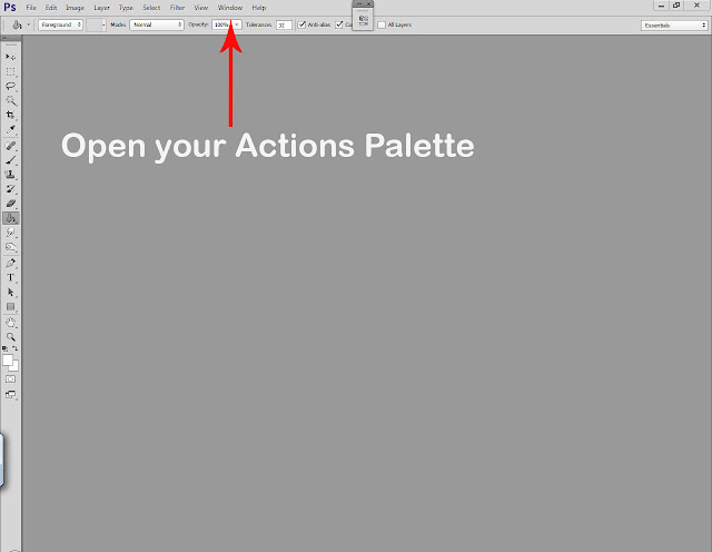 Photoshop actions tutorial step 1