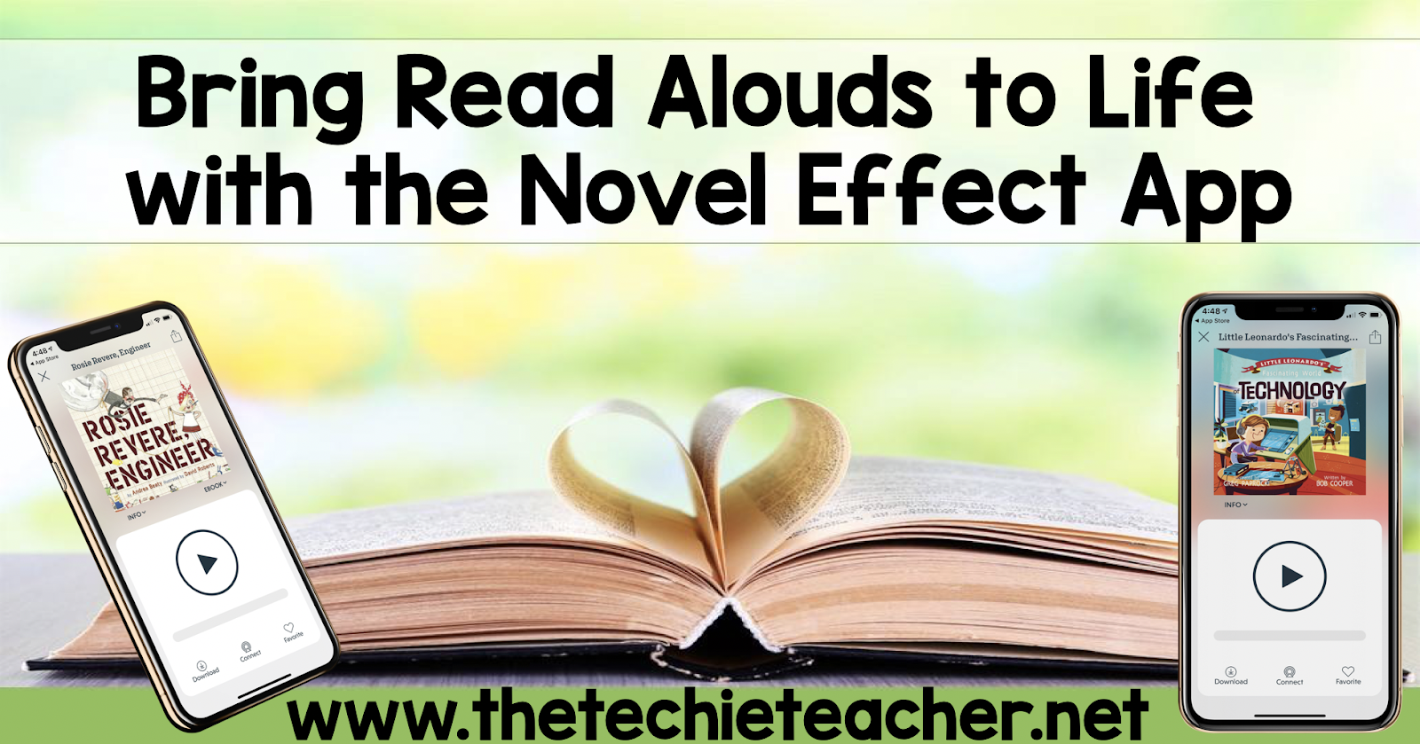 The Reading Crew's Spring Link Up: Bring Read Alouds to Life with the Novel Effect Fluency App