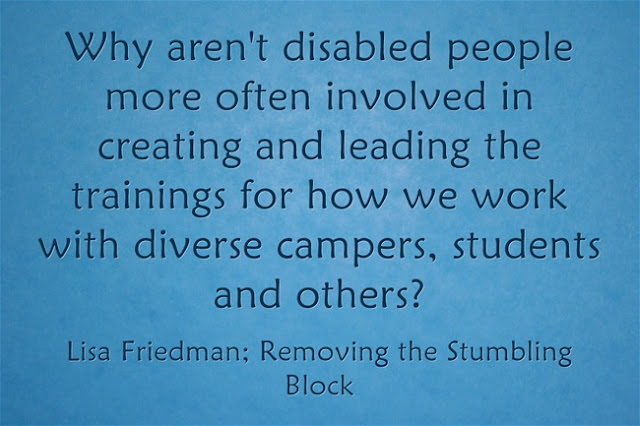 Balance between WITH and FOR in disability inclusion; Removing the Stumbling Block