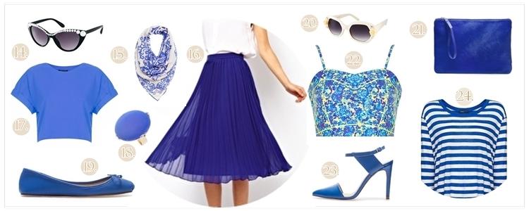 shopping klein blue