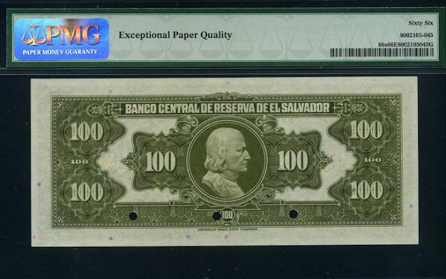 El Salvador 100 Colones