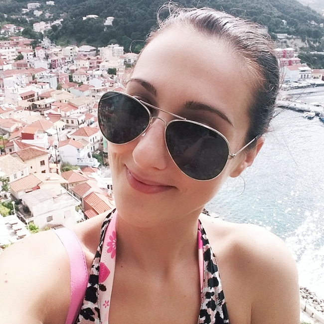 Jelena Zivanovic Instagram @lelazivanovic.Glam fab week.View at Parga from Kastro.